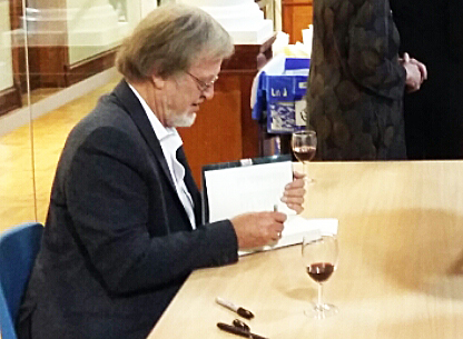 Bernard Cornwell at a book signing